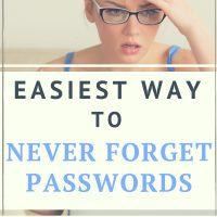 free password organizer printable