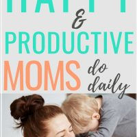 Establishing a routine for busy moms