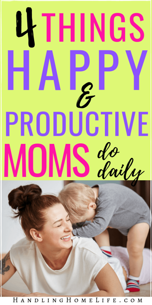 time management tips for moms to be happier and more productive at home