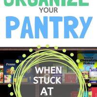 organize small pantry