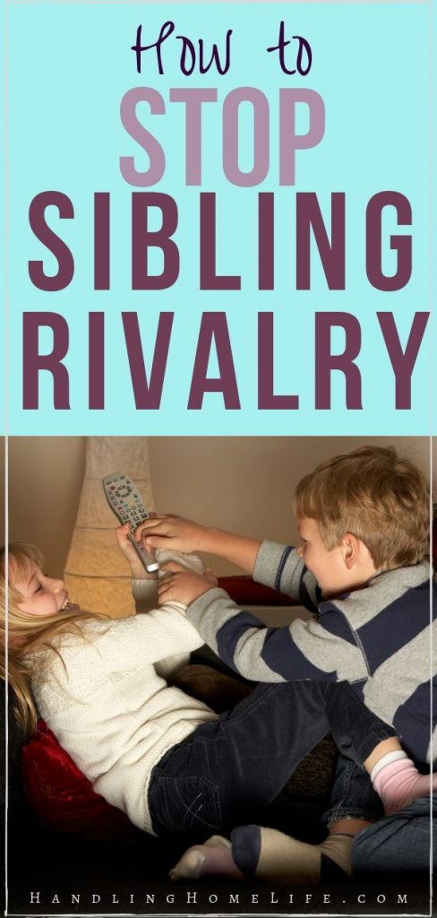 how to prevent sibling rivalry