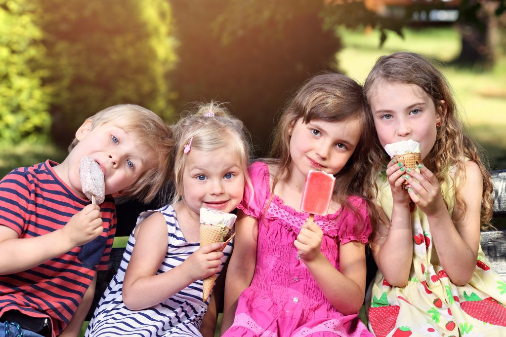 summer fun for kids: homemade ice cream and popsicles