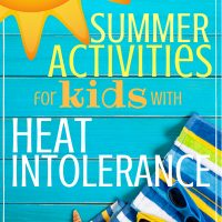 sunshine beach towel and sunglasses- summer fun for kids with heat intolerance