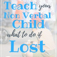 Teach your non verbal child what to do if he gets lost or separated from you with this smart child safety hack. Prepare your kids with a safety plan so they will know what to do if ever lost.