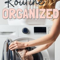 organized laundry routine