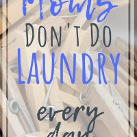 laundry schedule and laundry tips for busy moms
