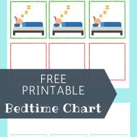 bedtime chart free printable to solve sleep problems in kids