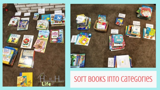 organizing tips for kids book rotation