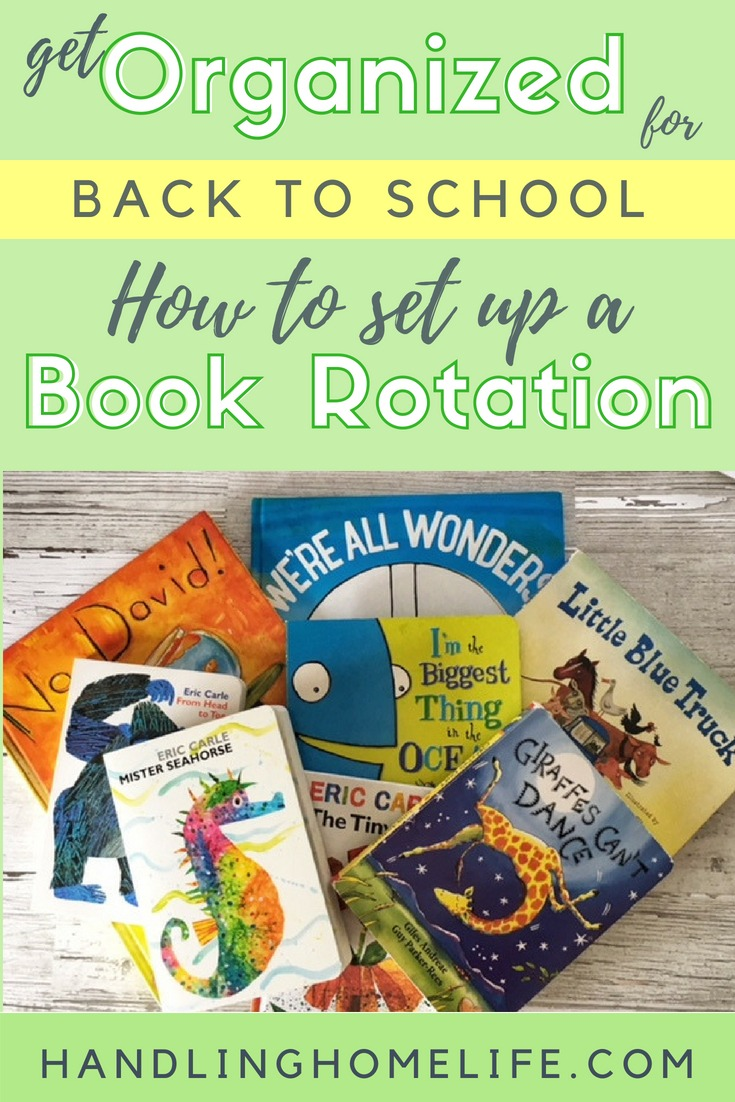 how to set up a book rotation for kids at home