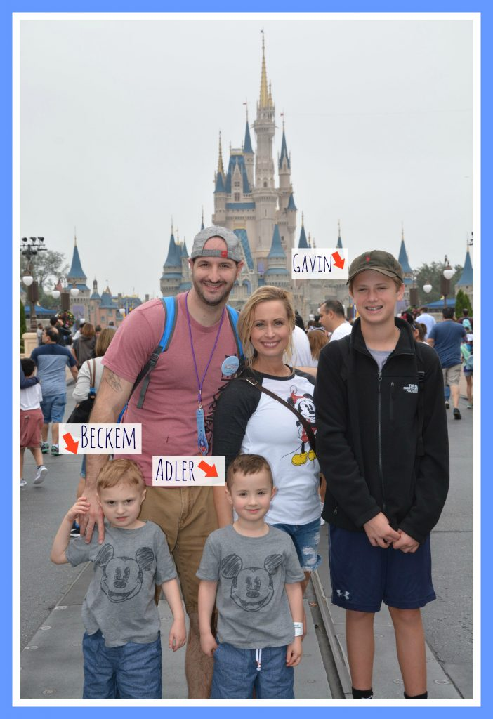 family at disney with the disney castle behind them: how to teach your kids what to do if lost