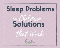 solve sleep problems in children