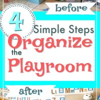 how to organize and declutter the playroom