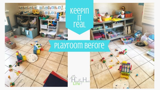 playroom organization storage system
