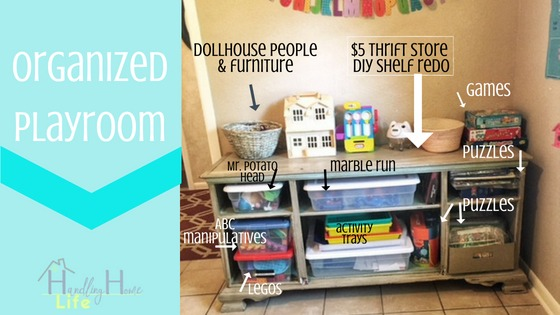 how to organize kids playroom