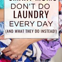 laundry help for busy moms
