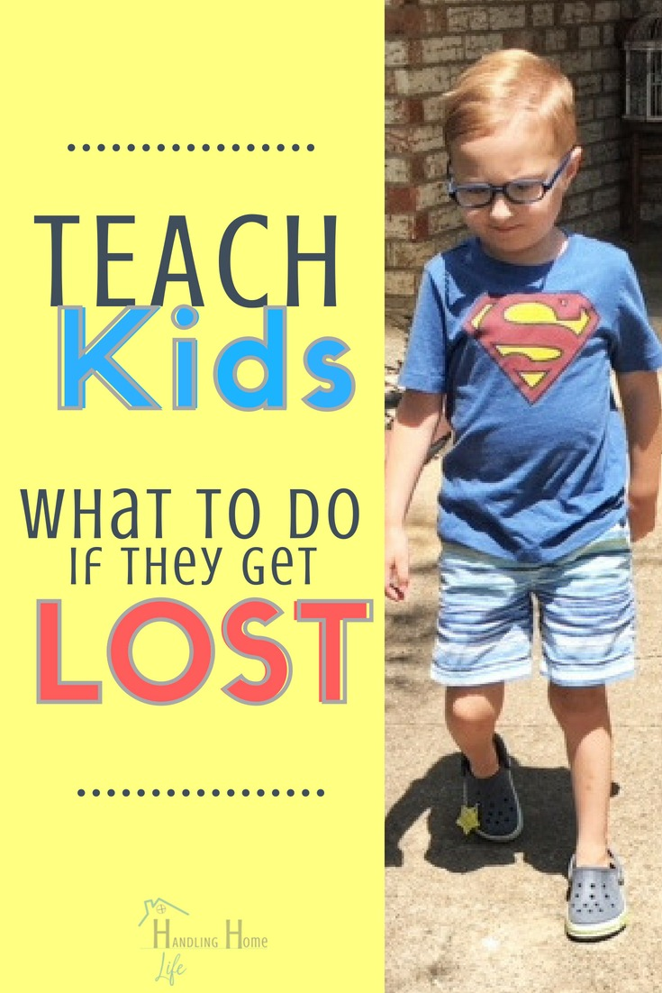 teach kids what to do if lost