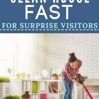 how to clean house quickly for last minute visitor