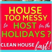 how to clean house fast for holiday guests
