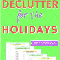 How to declutter your house before the holidays