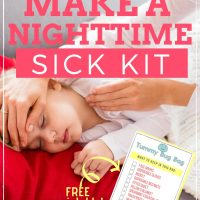 how to make a sick bag to prepare for kids nighttime illness