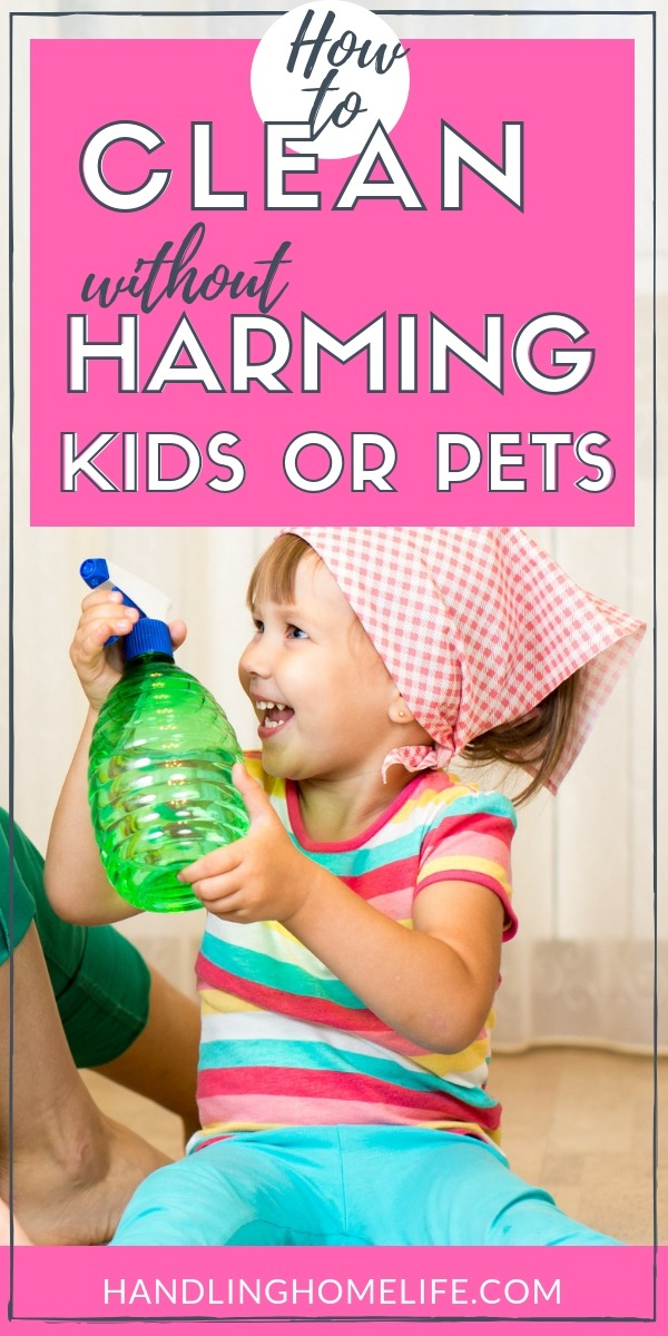 non toxic cleaners safe to use around kids and pets