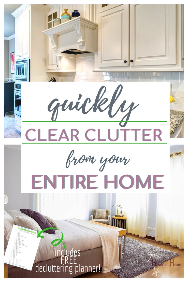 quickly clear clutter from your home with a free download declutter checklist