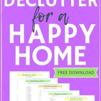 how to declutter your home with a free checklist download