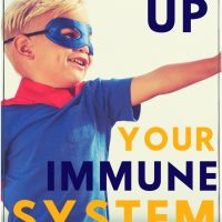 young boy dressed as a super hero: ways to boost kids immune system