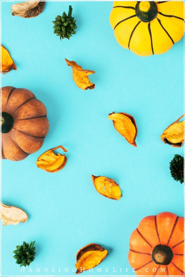 fall decor on a budget with pumpkins