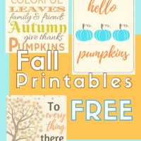 free printable download for fall decor