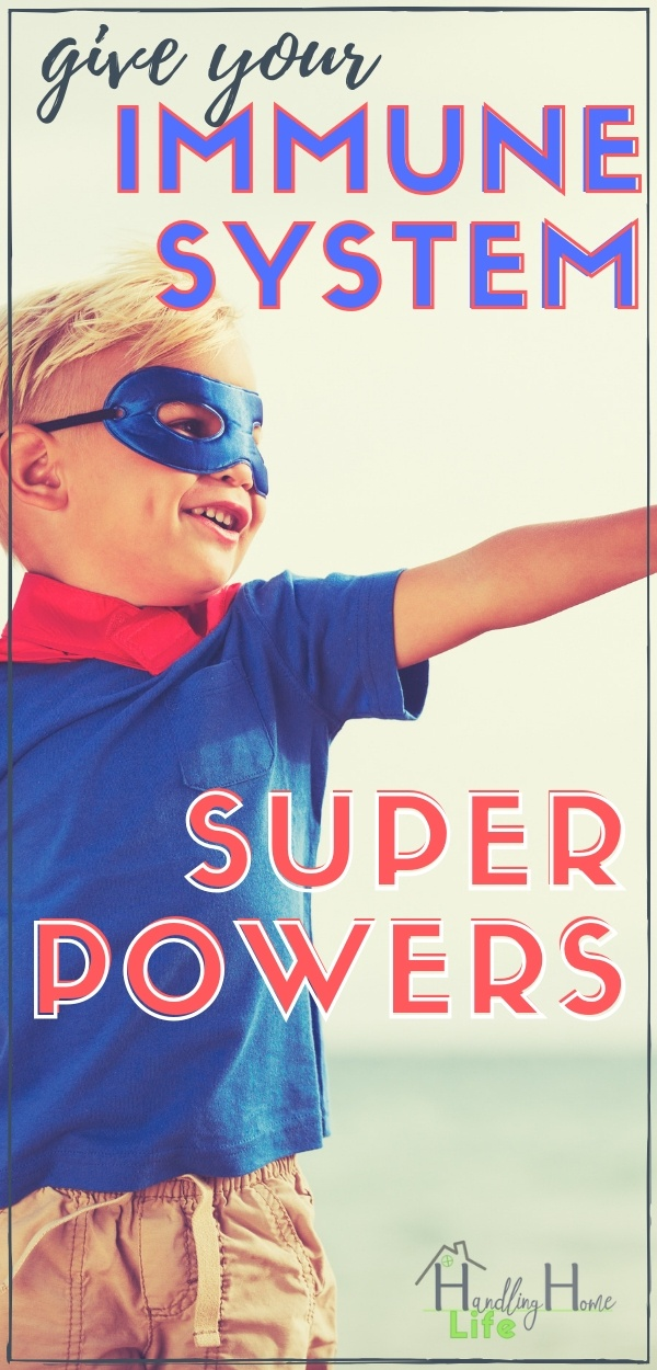 little boy dressed as a super hero: immune system boosters for kids