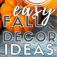 easy home decor for fall