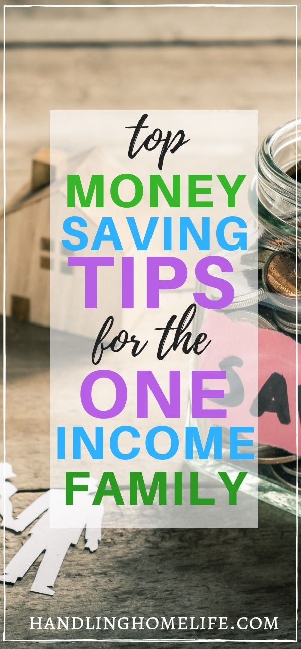 Money saving tips for the single income family