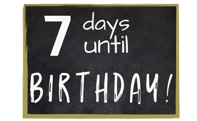 special birthday ideas for kids with a chalkboard countdown