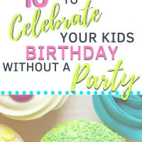 birthday ideas for kids instead of a party