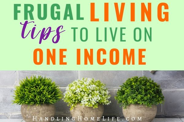 single income family tips