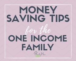 frugal living tips for the one income family