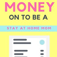 ways to save money to be a stay at home mom