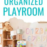 organizing kids toys in the playroom