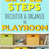 how to organize the playroom