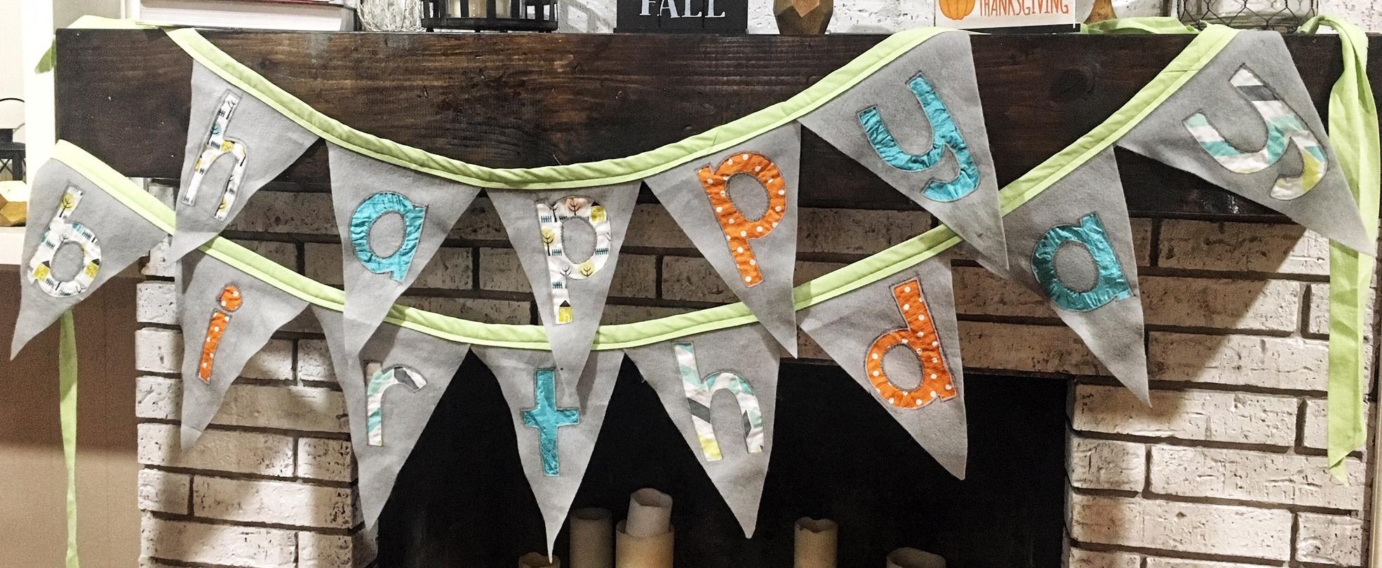 diy birthday banner tutorial
