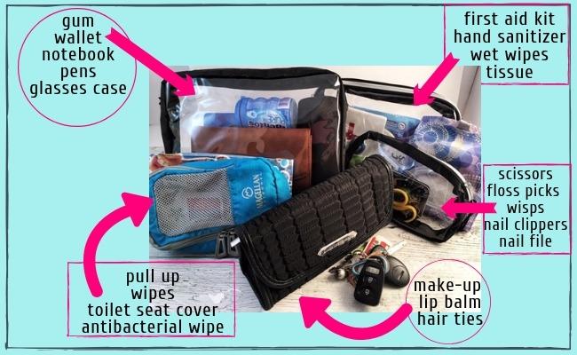 essential items for mom purse