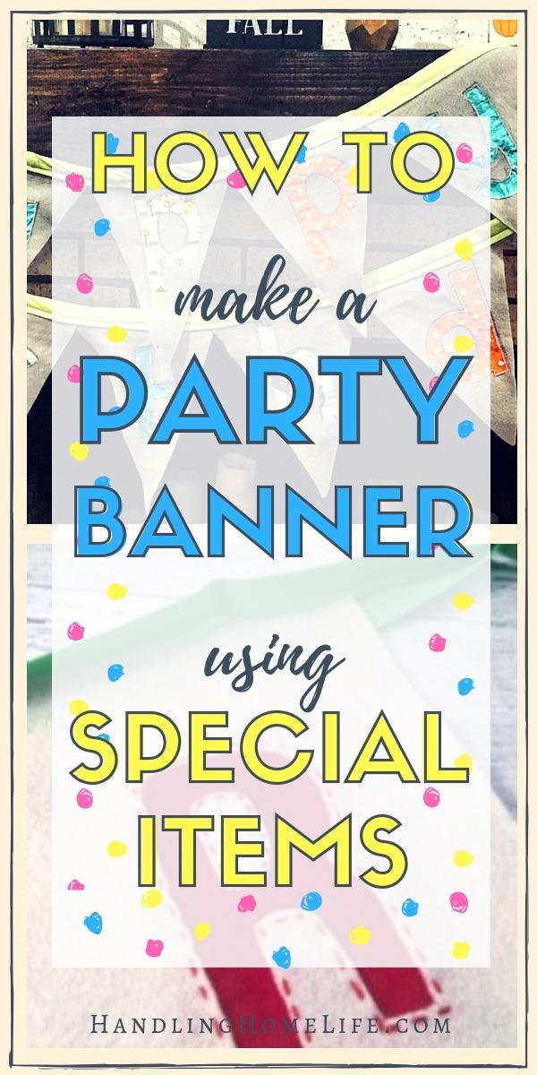 birthday party banner tutorial