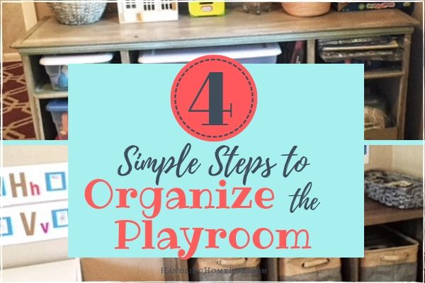 how to organize the kids playroom