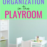 organize the toys in the playroom