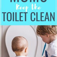 toilet cleaning tips for busy moms