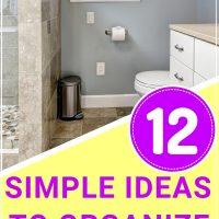 how to organize a tiny bathroom #handlinghomelife