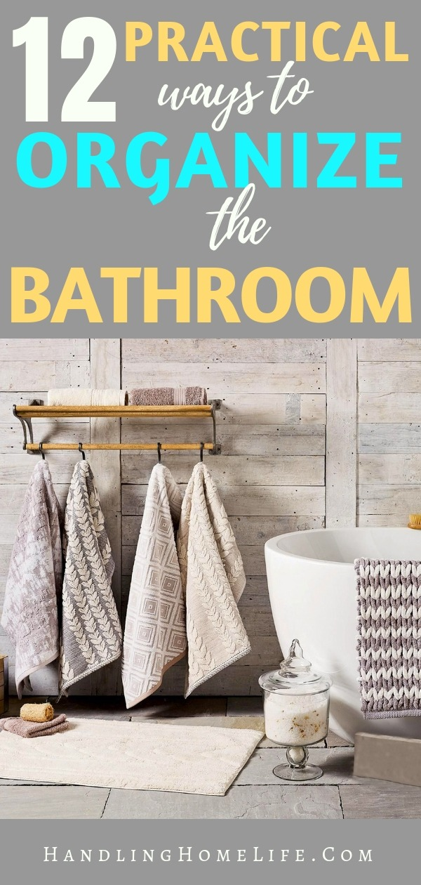 How to organize and declutter the bathroom