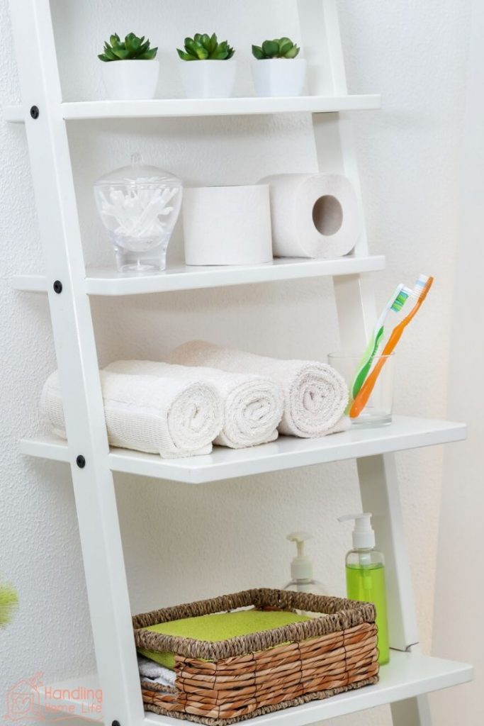 bathroom organization ideas with shelves