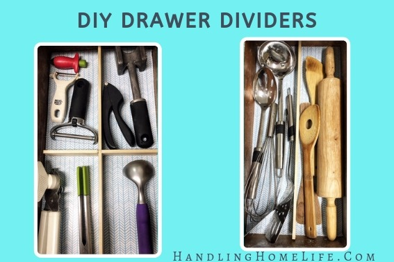 organize kitchen drawers with diy drawer dividers #handlinghomelife